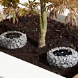 Solar Petra Stone Effect Up Light, 2 Pack