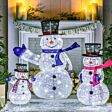 Set of 3 Outdoor Collapsible Snowman Family Figures