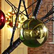 25cm Large Outdoor Commercial Christmas Tree Bauble