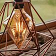 4W E27 Fully Dimmable Vintage Tinted Crystal Filament Style, Warm White LED Light Bulb