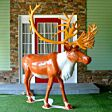 2.2m Outdoor Standing Stag Figure, 6200 White LEDs