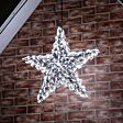 60cm Outdoor 3D Star Silhouette with Flash Bulb, Connectable, 250 White LEDs