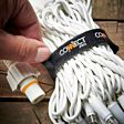 ConnectPro Warm White LED with White Flash Bulb String Lights, White Rubber Cable