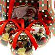 14 x 75mm Winter Scene Shatterproof Christmas Tree Baubles