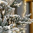 7ft Pre Lit Green Snow Effect Real-Feel PE Imperial Spruce Artificial Christmas Tree