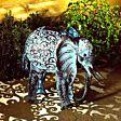 Solar Novelty Elephant Light