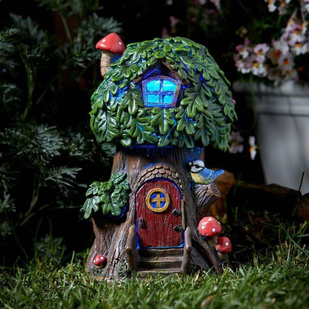 Solar Elfin Oak Tree House Light - Elvedon Collection