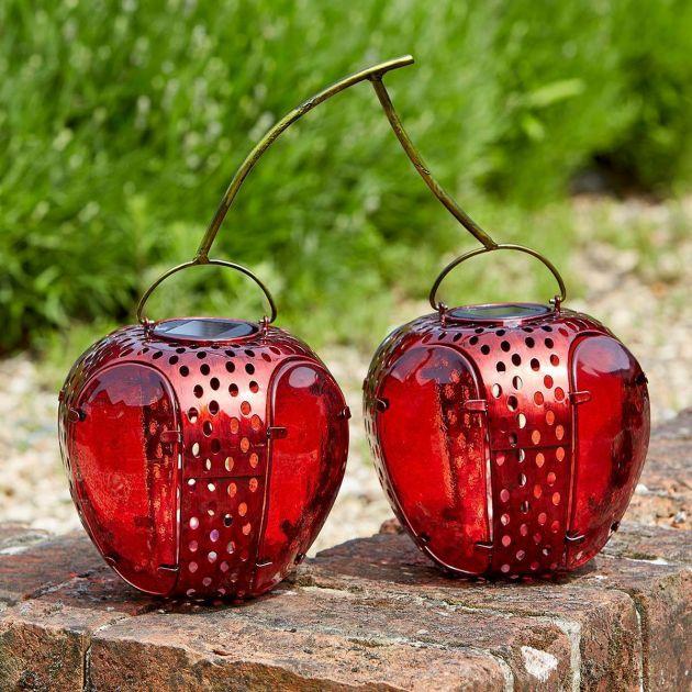 Solar Novelty Twin Cherry Light