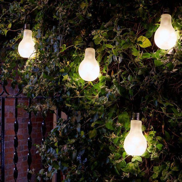 Battery Eureka Frosted Festoon Bulb, Warm White LEDs, 4 Pack