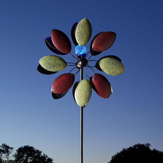 Solar Aquarius Wind Spinner Stake Light