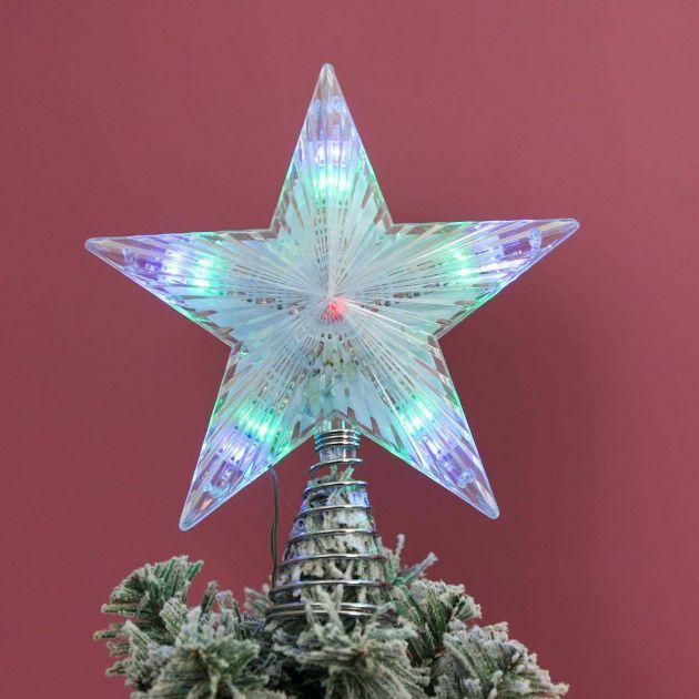 24cm Battery Christmas Tree Star Topper, Multi Colour Twinkle LEDs
