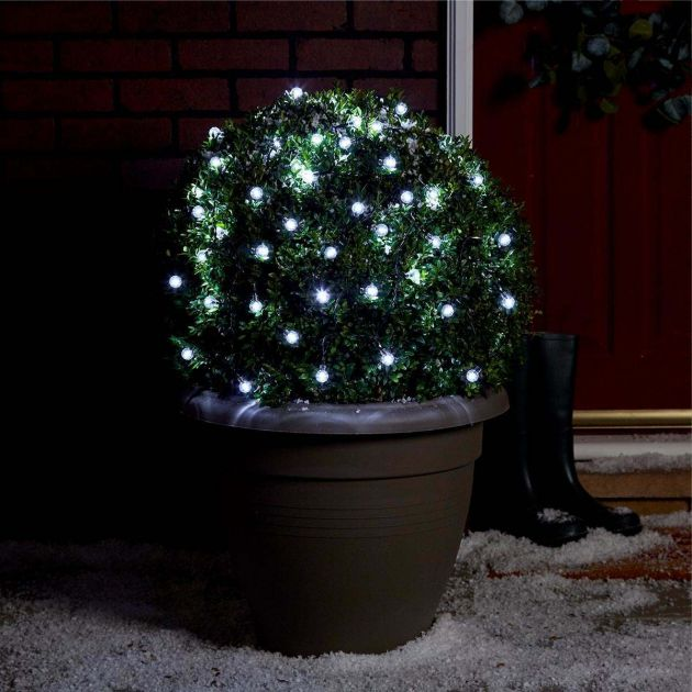 5m Outdoor Battery Berry Fairy Lights, Green Cable