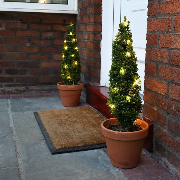 Outdoor Plug In Micro Fairy Lights on Silver Wire, 50 LEDs