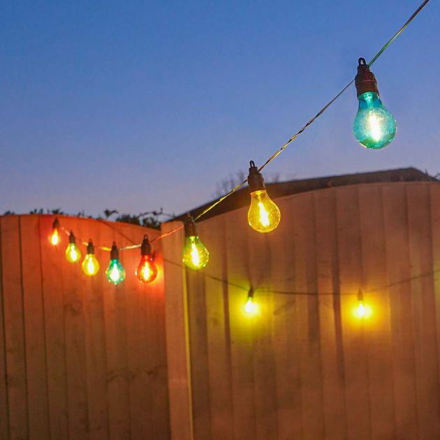 Battery Filament Effect Multi Coloured LED Festoon Lights