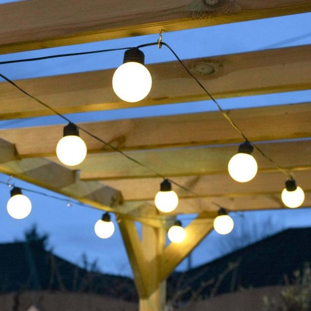 Outdoor Battery Frosted Bulb Festoon Lights