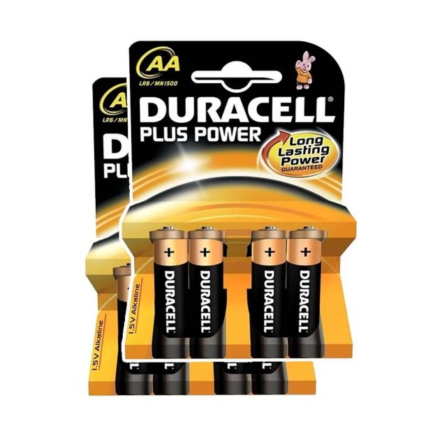 Duracell Alkaline Batteries - AA Pack of 8