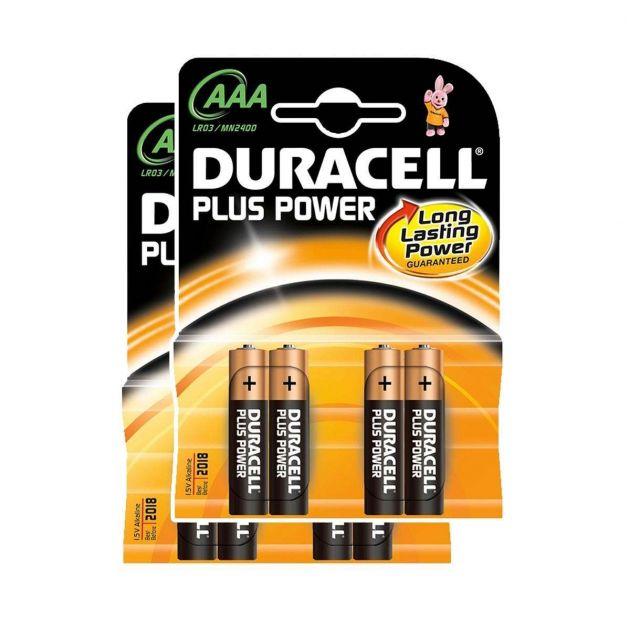 Duracell Alkaline Batteries - AAA Pack of 8