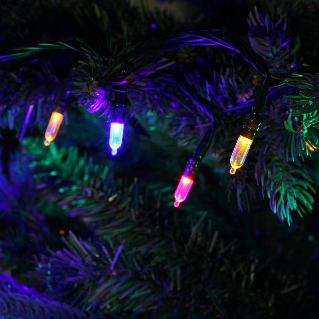 Traditional Style LED Fairy Lights, Connectable, Green Cable