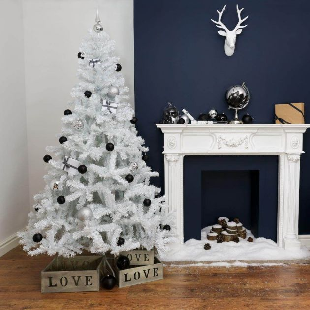 7ft White Artificial Christmas Tree