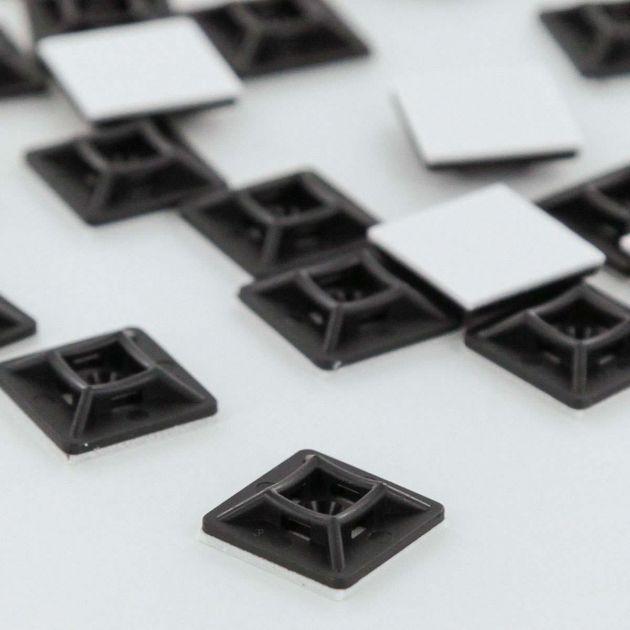 19mm x 19mm Adhesive Tie Wrap Base, 20pcs