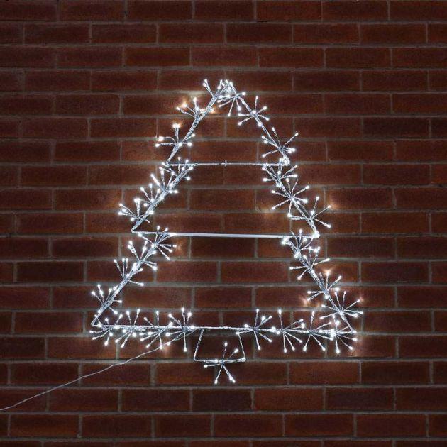 90cm Starburst Christmas Tree Silhouette, 240 White LEDs