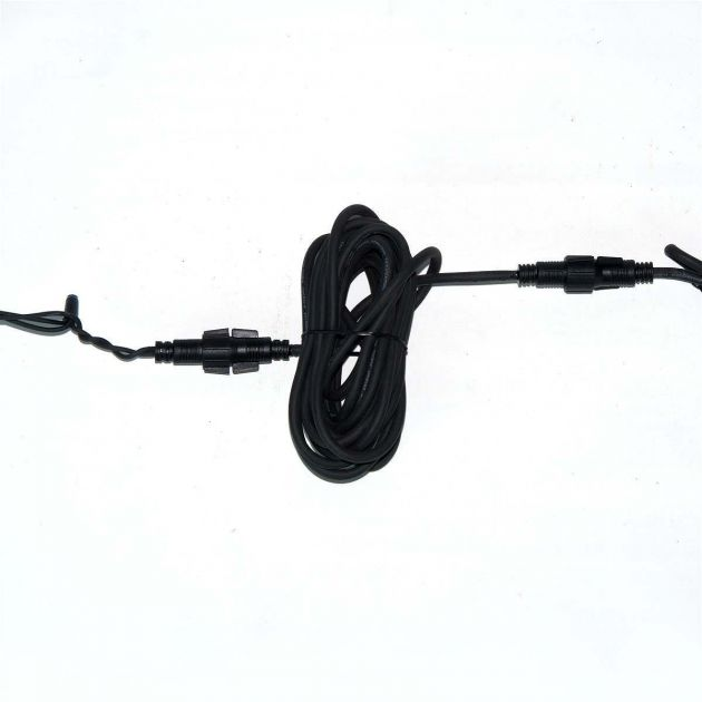 5m  Extension Lead, Connectable, Black or White