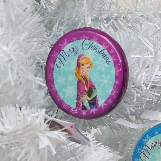Frozen Purple 'Merry Christmas' Anna Hanging Christmas Tree Decoration