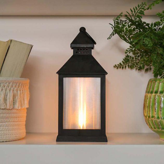 24cm Battery Flickering Flame Lantern