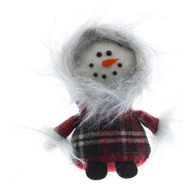 13cm Snowman Standing Big Head Pal