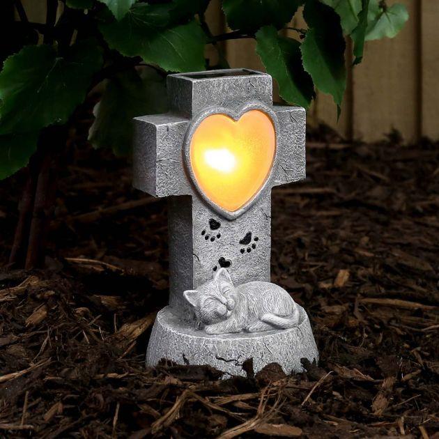 Solar Cat Memorial Light, 21cm