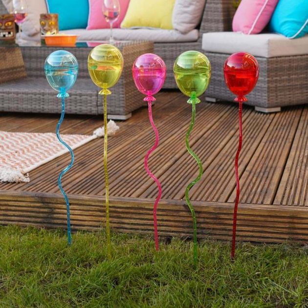 Solar Balloon Stake Lights, 5 Pack