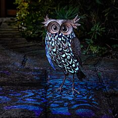Solar Novelty Giant Owl Light