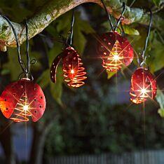 1,8m Solar Ladybird Fairy Lights