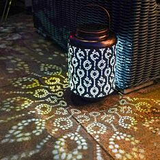 Solar Copper Lantern, 26cm