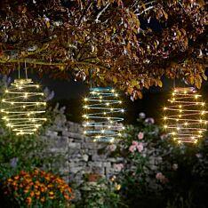 39cm Solar Hanging Spiralites Lantern Light