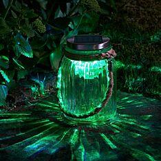 Solar Glass Carnival Lantern, Colour Changing LED