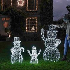 Set of 3 Outdoor Snowman Family Figures