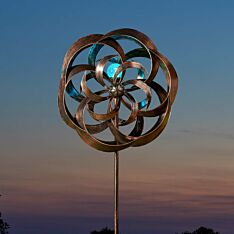 Solar Taurus Wind Spinner Stake Light