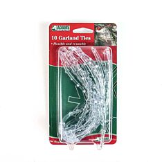 Clear Garland Ties, 10 Pack