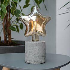 Battery Concrete Star Filament Effect LED Table Lamp