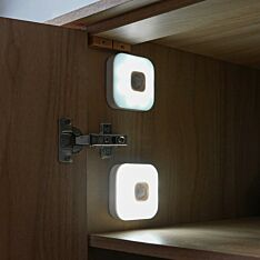USB Rechargeable Security Wall Lights with Motion Sensor, 2 Pack