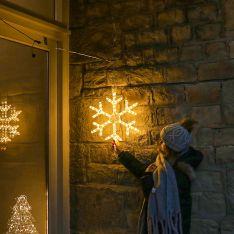ConnectGo Outdoor Snowflake Christmas Silhouette, Connectable