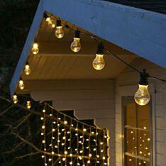 ConnectGo Large Festoon Lights, Connectable, Clear LED Bulbs