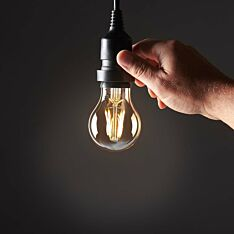 4W E27 Fully Dimmable Vintage Tinted Filament Style, Warm White LED Light Bulb