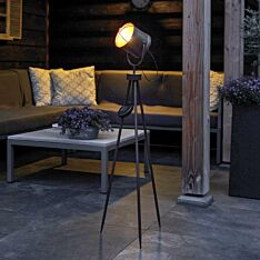 Solar Copper Industrial Tripod Studio LED Light