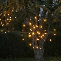 45cm Outdoor Starburst Christmas Light, Warm White with White Twinkle LEDs