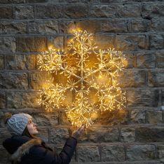 90cm Starburst Snowflake Christmas Silhouette, 660 Warm White LEDs
