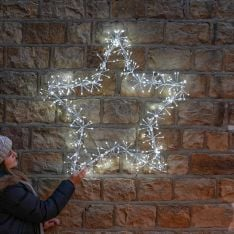 90cm Starburst Star Christmas Silhouette, 320 White LEDs
