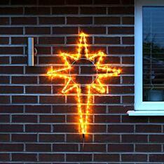 80cm Rope Light Star Christmas Silhouette, 72 Yellow LEDs