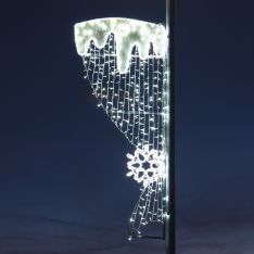 2m Outdoor Rope Light Commercial Snowflake and Icicle Motif, Twinkle LEDs